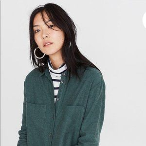 Madewell Sunday Flannel in Forest Green